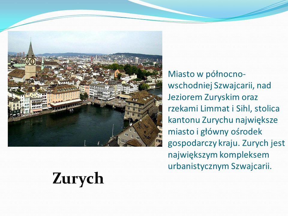 Miasto w północno-wschodniej Szwajcarii, nad Jeziorem Zuryskim oraz rzekami Limmat i Sihl, stolica kantonu Zurychu największe miasto i główny ośrodek gospodarczy kraju. Zurych jest największym kompleksem urbanistycznym Szwajcarii.