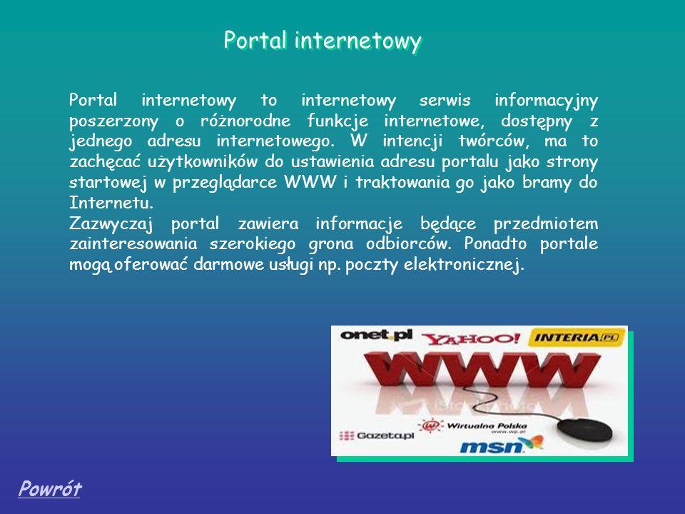 Portal internetowy Powrót