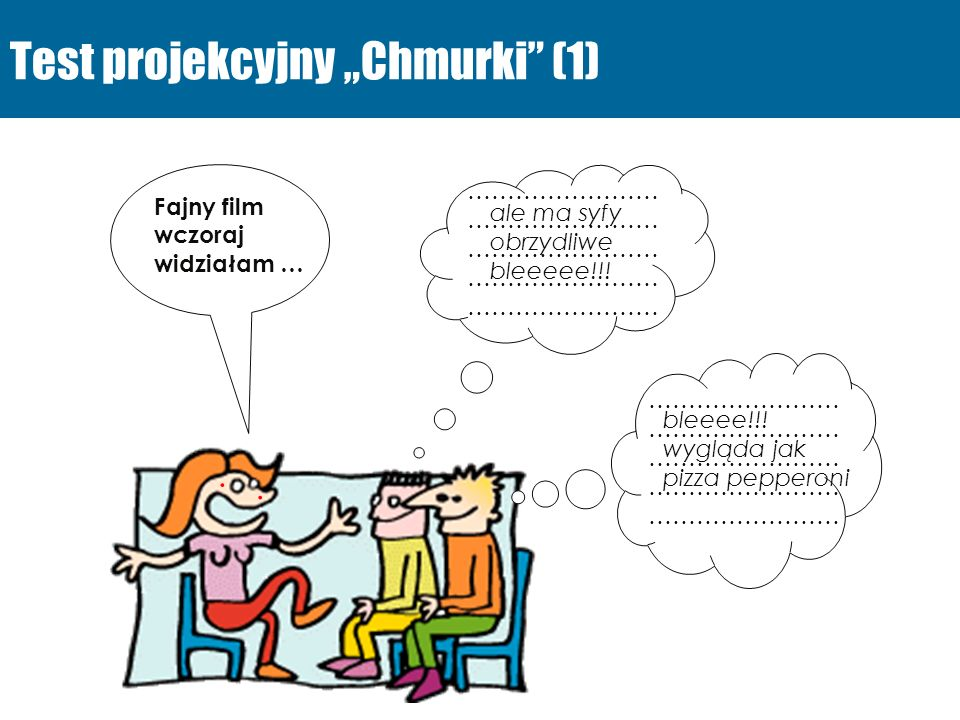 """Test projekcyjny """"Chmurki (1)"""