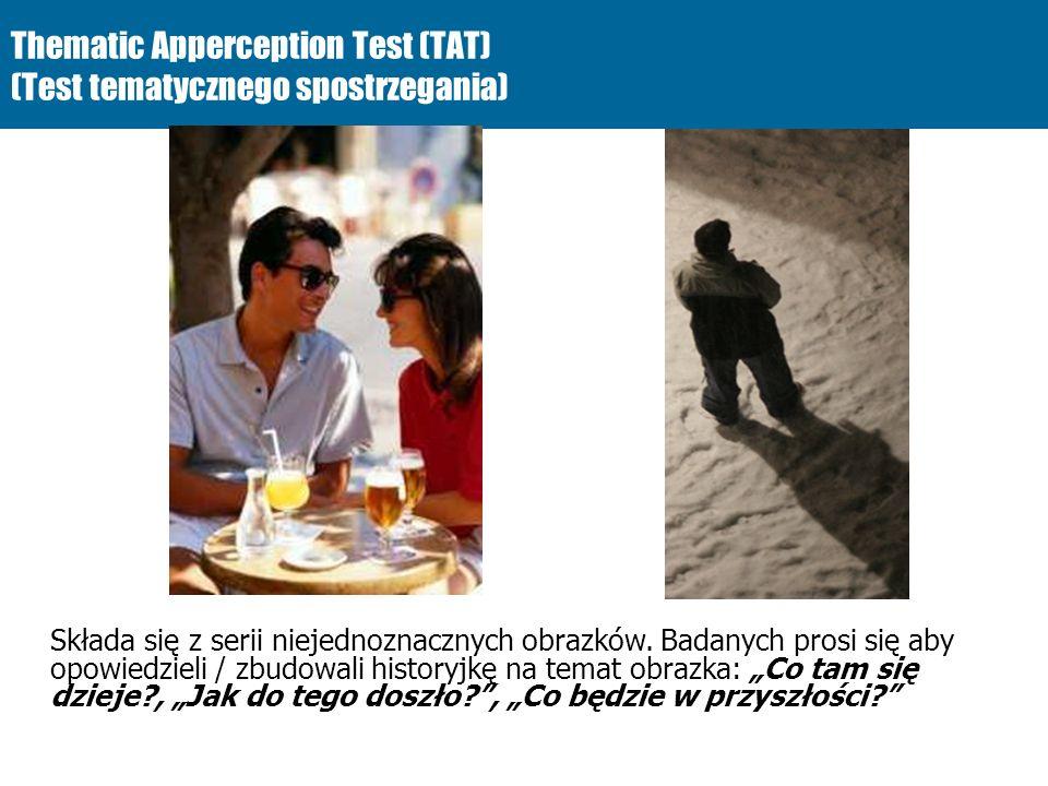 Thematic Apperception Test (TAT) (Test tematycznego spostrzegania)