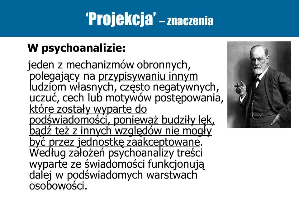 'Projekcja' – znaczenia
