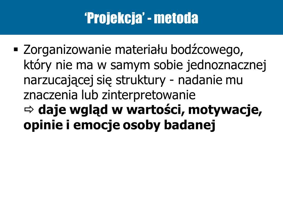 'Projekcja' - metoda