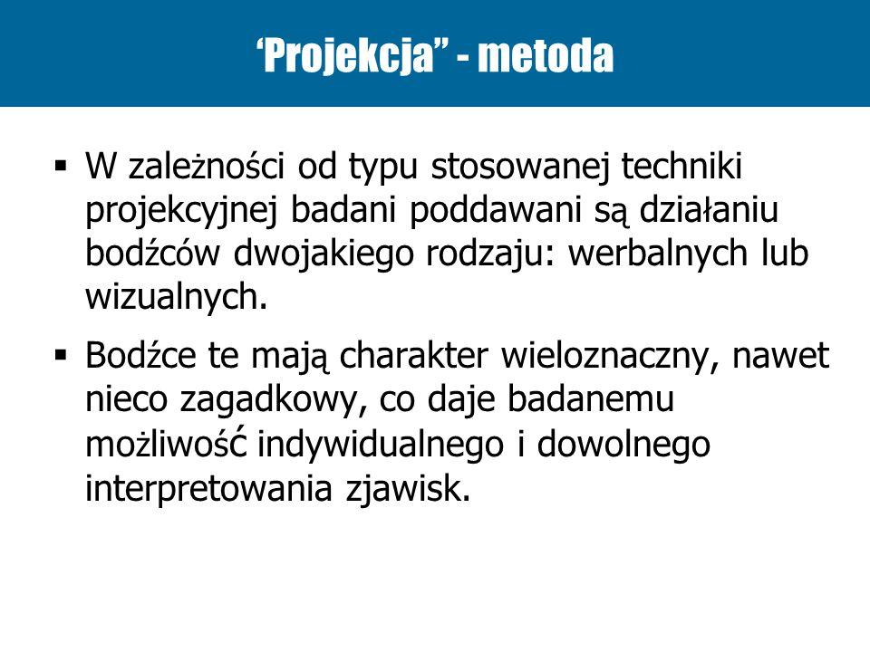 'Projekcja - metoda