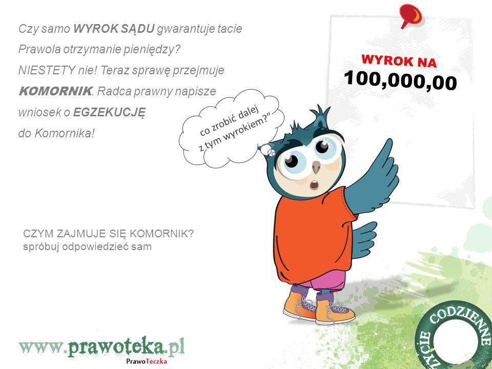 WYROK NA 100,000,00. Czy samo WYROK SĄDU gwarantuje tacie Prawola otrzymanie pieniędzy