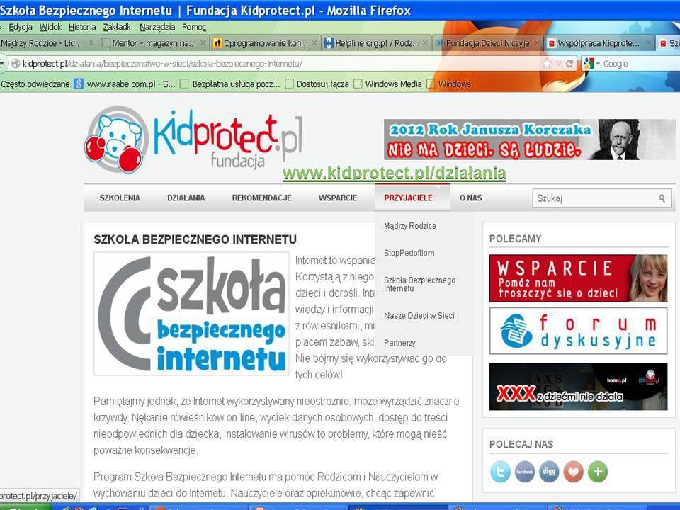 www.kidprotect.pl/działania