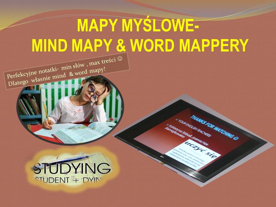 MAPY MYŚLOWE- MIND MAPY & WORD MAPPERY