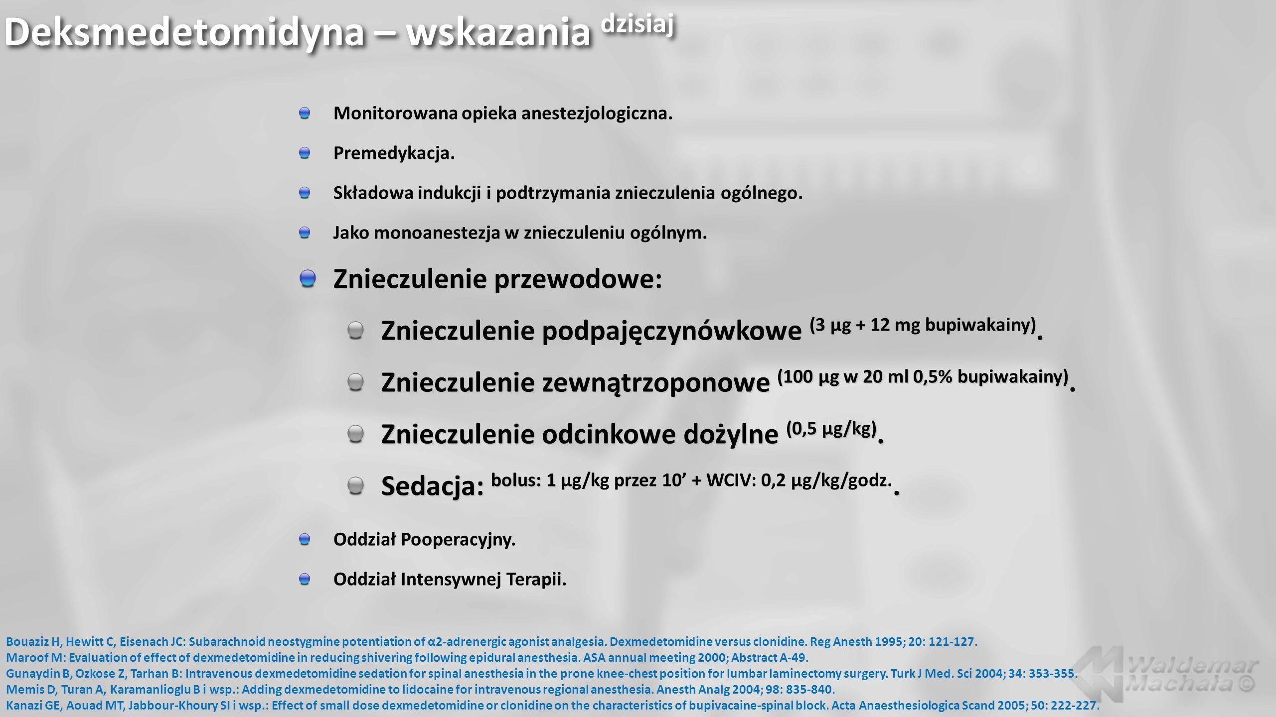 Deksmedetomidyna – wskazania dzisiaj