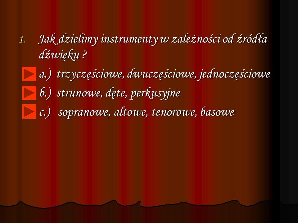 Jak dzielimy instrumenty w zależności od źródła dźwięku