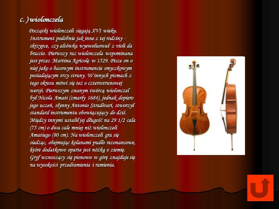 c. ) wiolonczela
