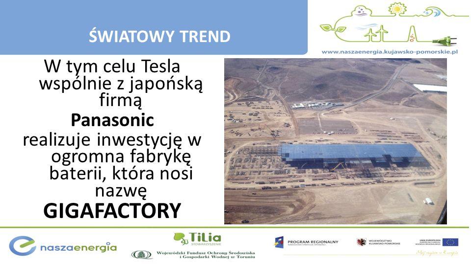 GIGAFACTORY W tym celu Tesla wspólnie z japońską firmą Panasonic