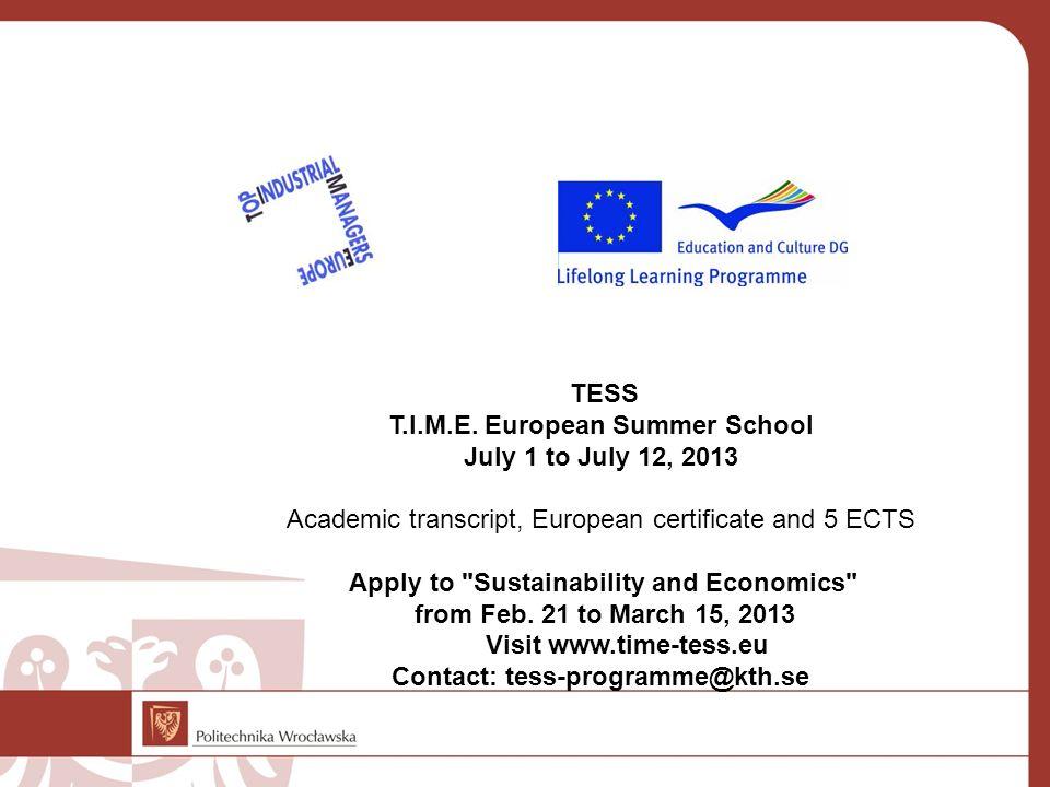 Contact: tess-programme@kth.se