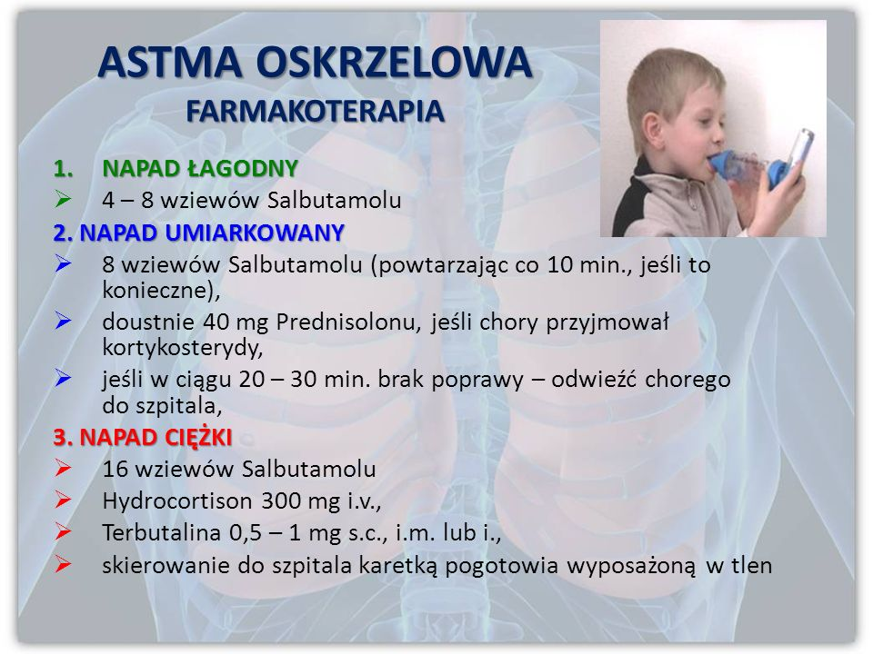 ASTMA OSKRZELOWA FARMAKOTERAPIA