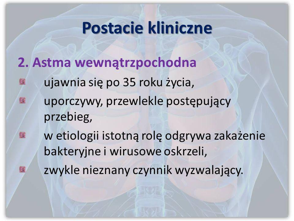 Postacie kliniczne 2. Astma wewnątrzpochodna