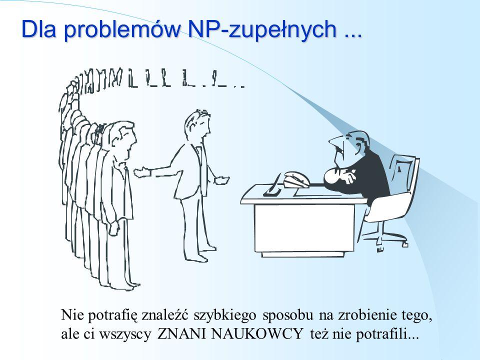 Dla problemów NP-zupełnych ...