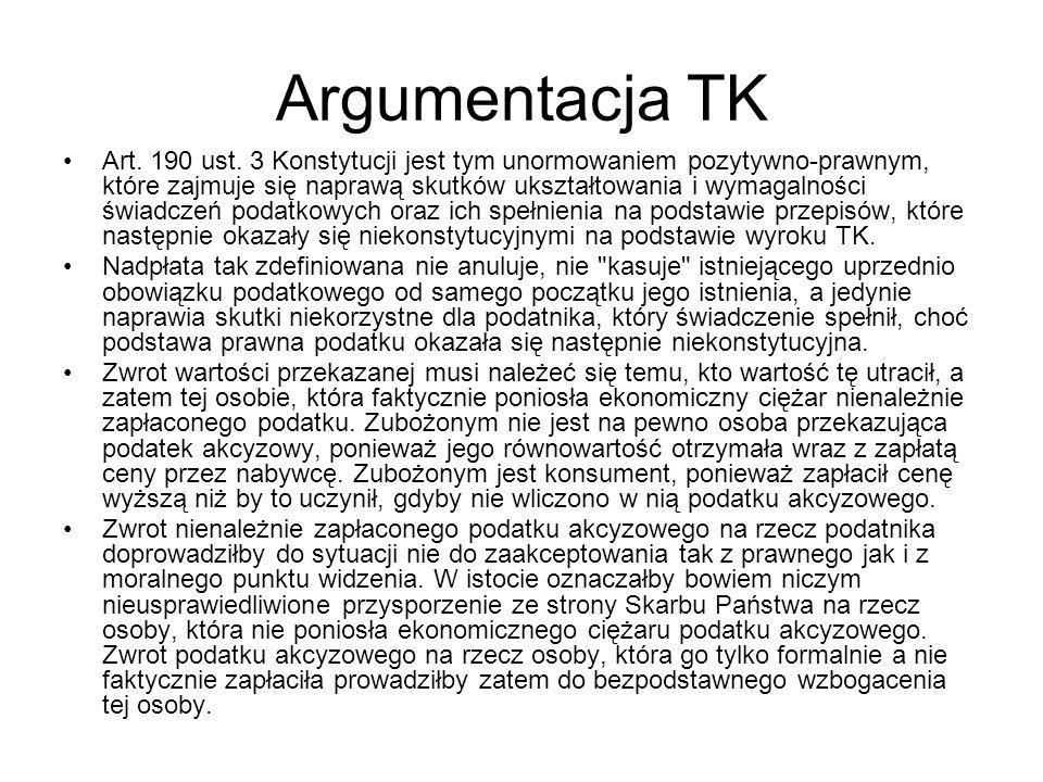 Argumentacja TK