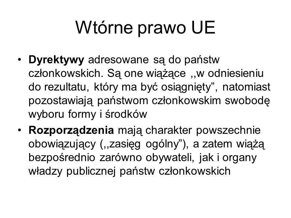 Wtórne prawo UE
