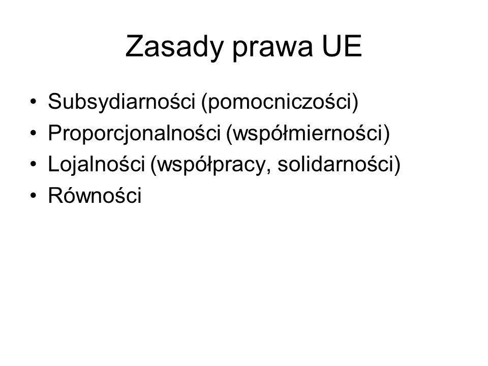 Zasady prawa UE Subsydiarności (pomocniczości)