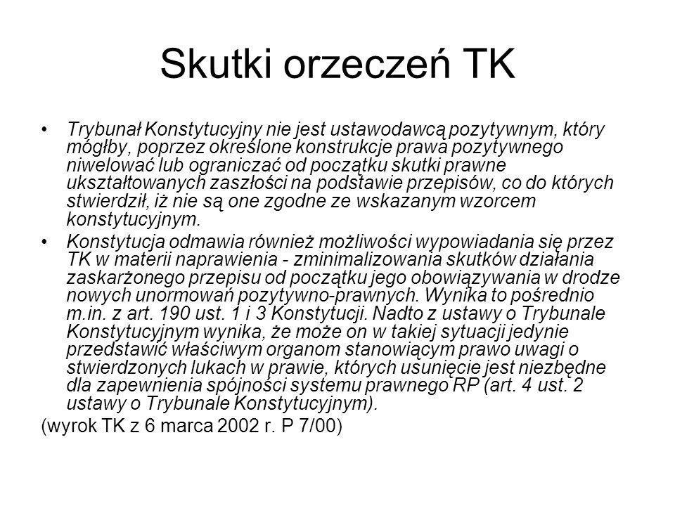 Skutki orzeczeń TK