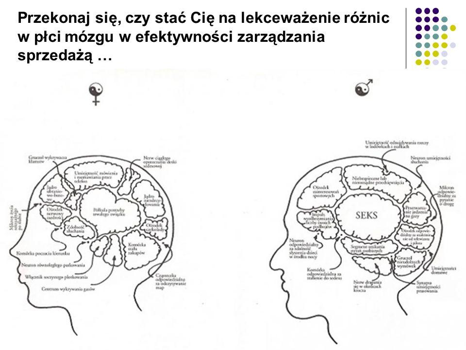 Przekonaj się, czy stać Cię na lekceważenie różnic w płci mózgu w efektywności zarządzania sprzedażą …