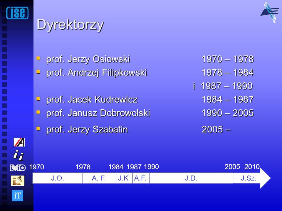 Dyrektorzy prof. Jerzy Osiowski 1970 – 1978