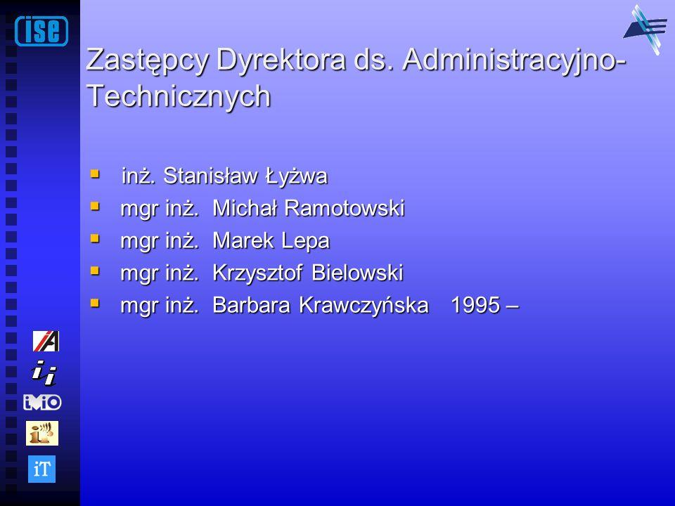 Zastępcy Dyrektora ds. Administracyjno-Technicznych