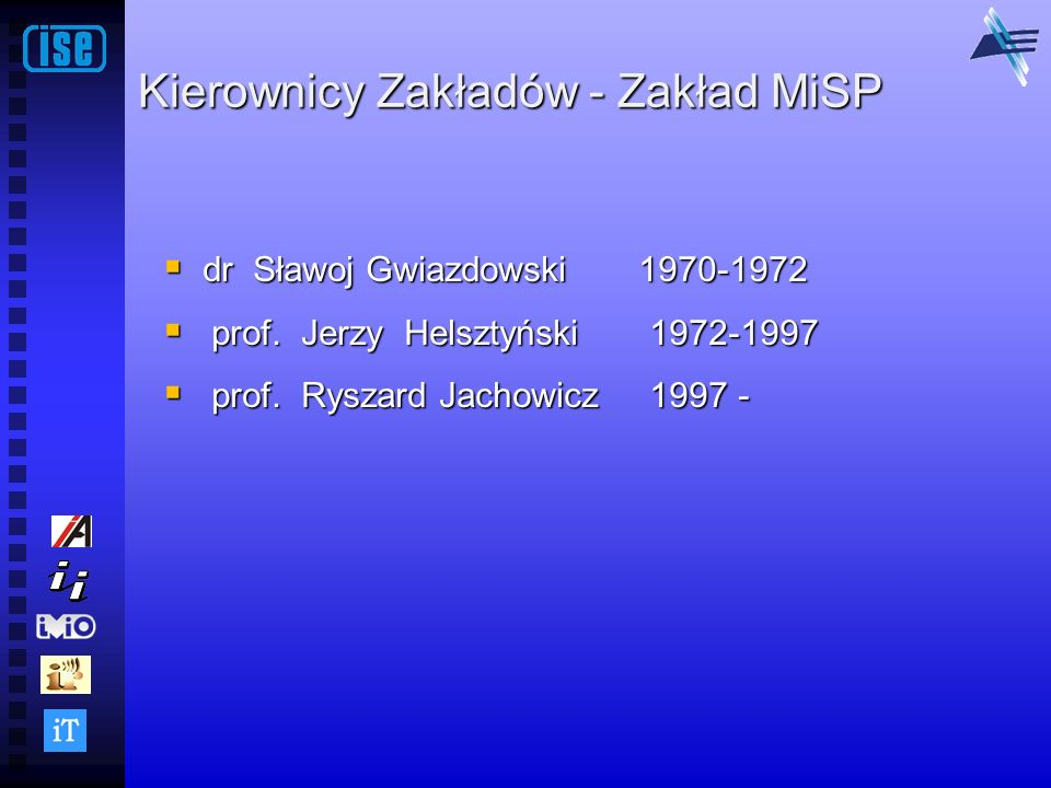 Kierownicy Zakładów - Zakład MiSP