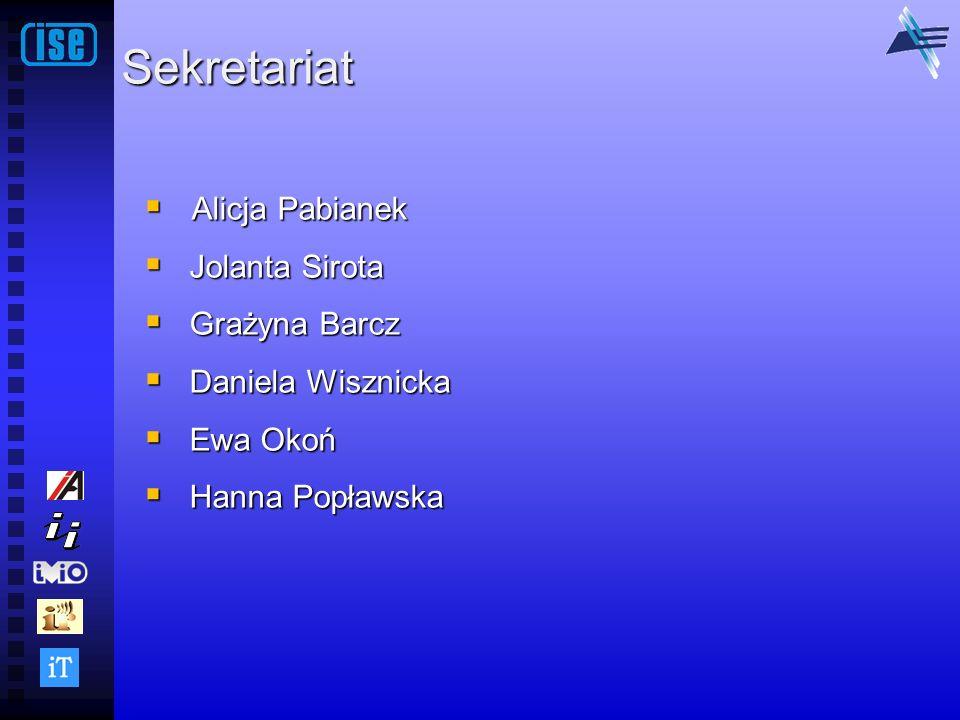 Sekretariat Alicja Pabianek Jolanta Sirota Grażyna Barcz