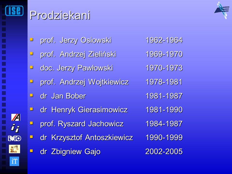 Prodziekani prof. Jerzy Osiowski 1962-1964