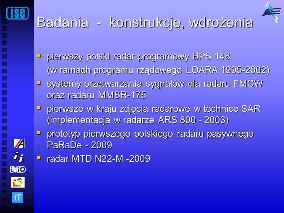 Badania - konstrukcje, wdrożenia