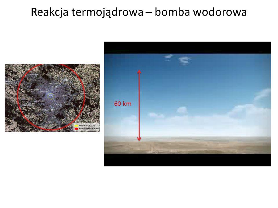 Reakcja termojądrowa – bomba wodorowa