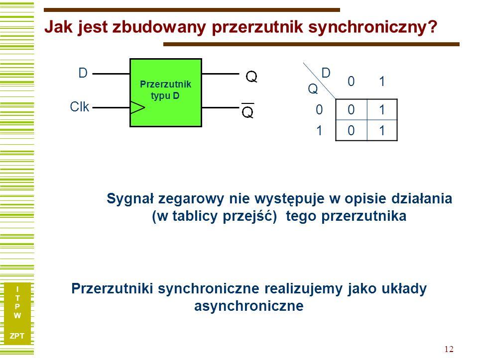 Jak jest zbudowany przerzutnik synchroniczny