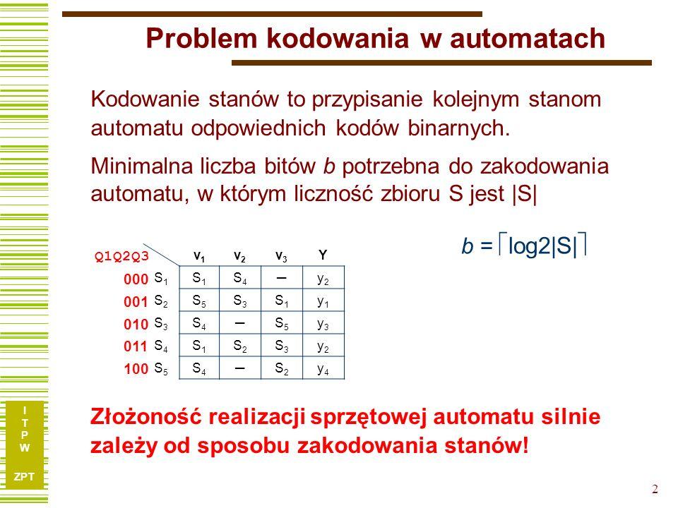 Problem kodowania w automatach