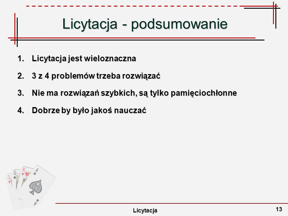 Licytacja - podsumowanie