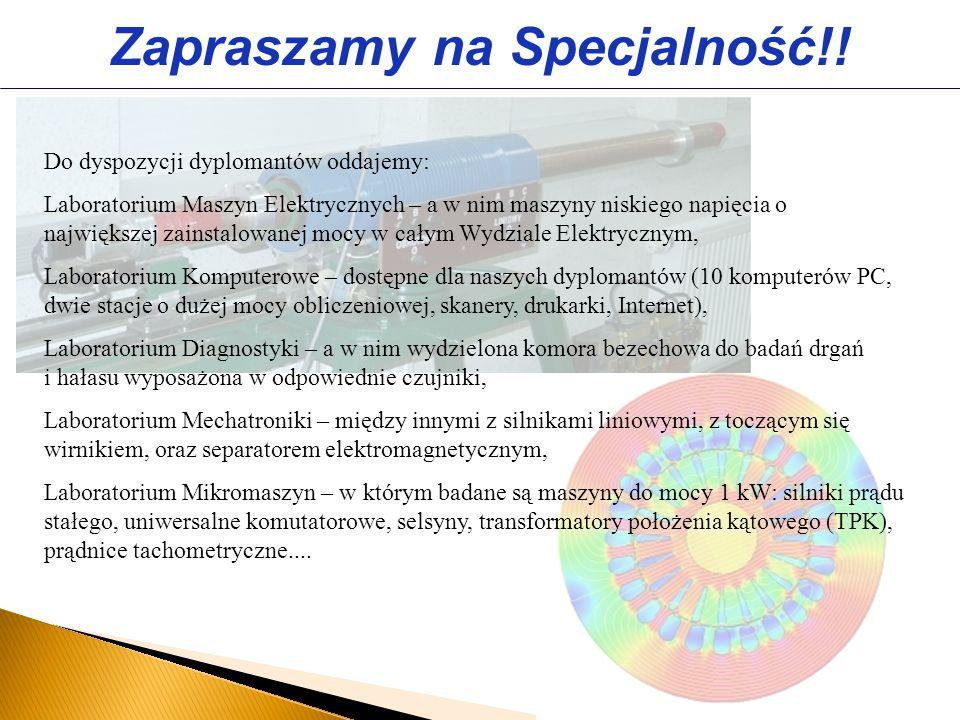 Zapraszamy na Specjalność!!