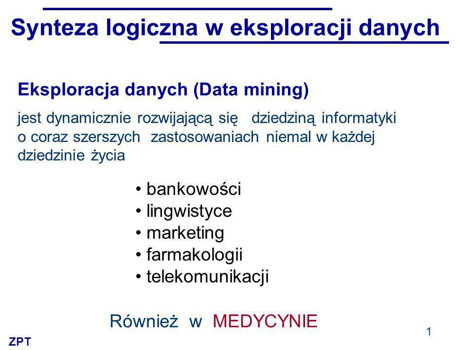 Synteza logiczna w eksploracji danych