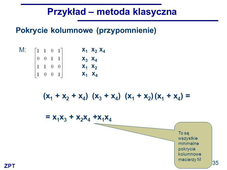 Przykład – metoda klasyczna