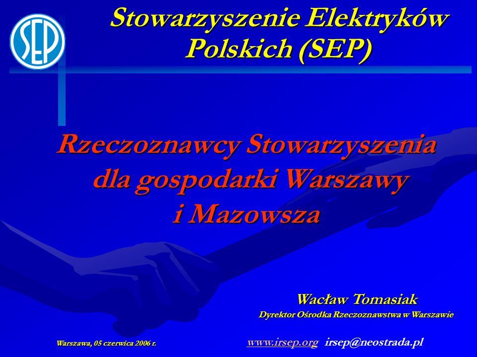 Rzeczoznawcy Stowarzyszenia dla gospodarki Warszawy i Mazowsza