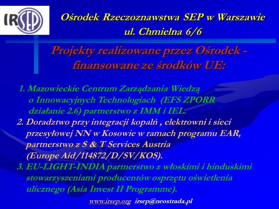 Projekty realizowane przez Ośrodek -finansowane ze środków UE: