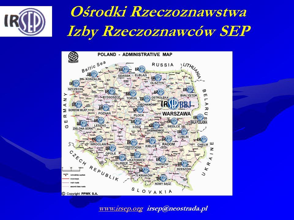 Ośrodki Rzeczoznawstwa Izby Rzeczoznawców SEP