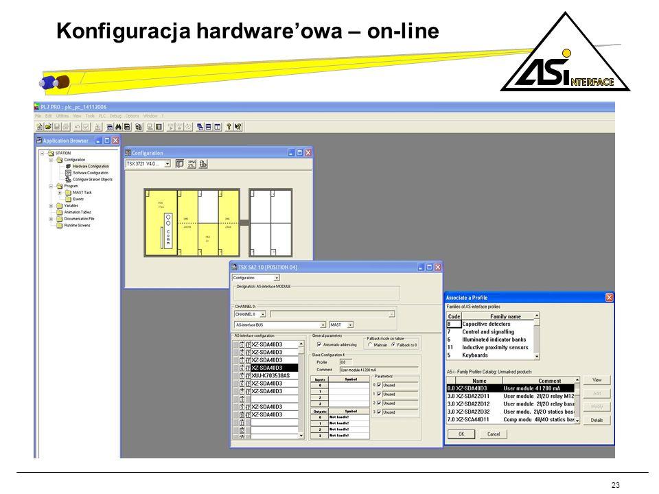 Konfiguracja hardware'owa – on-line