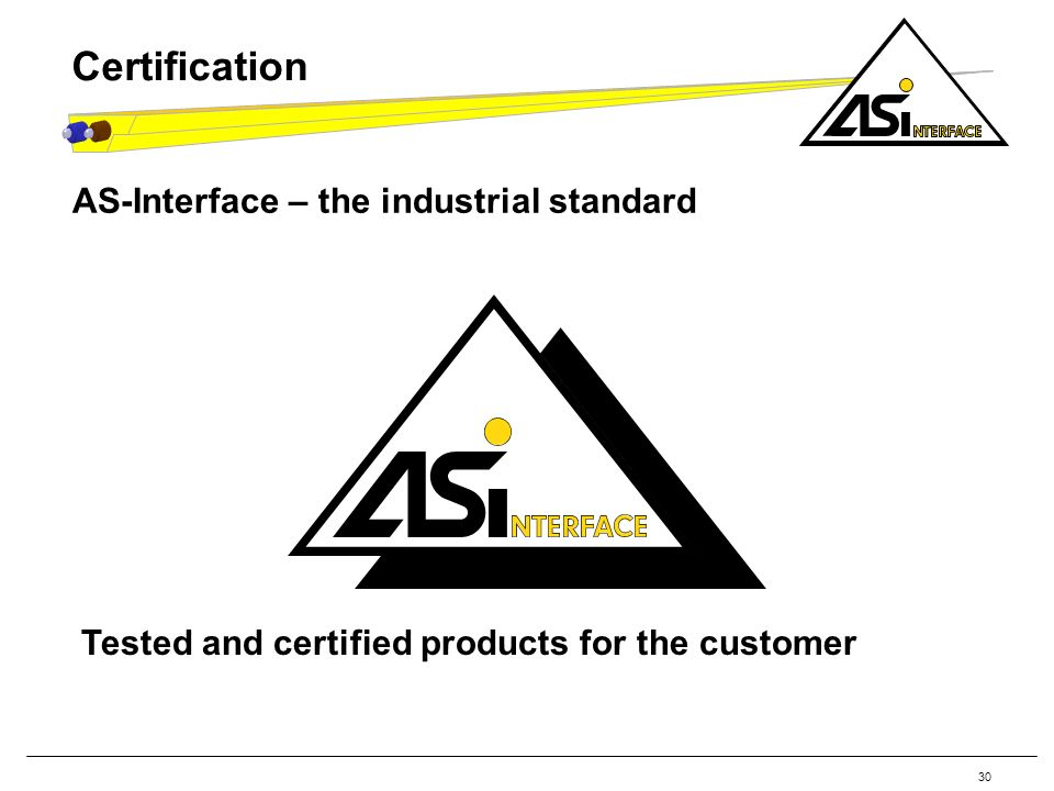 Certification AS-Interface – the industrial standard