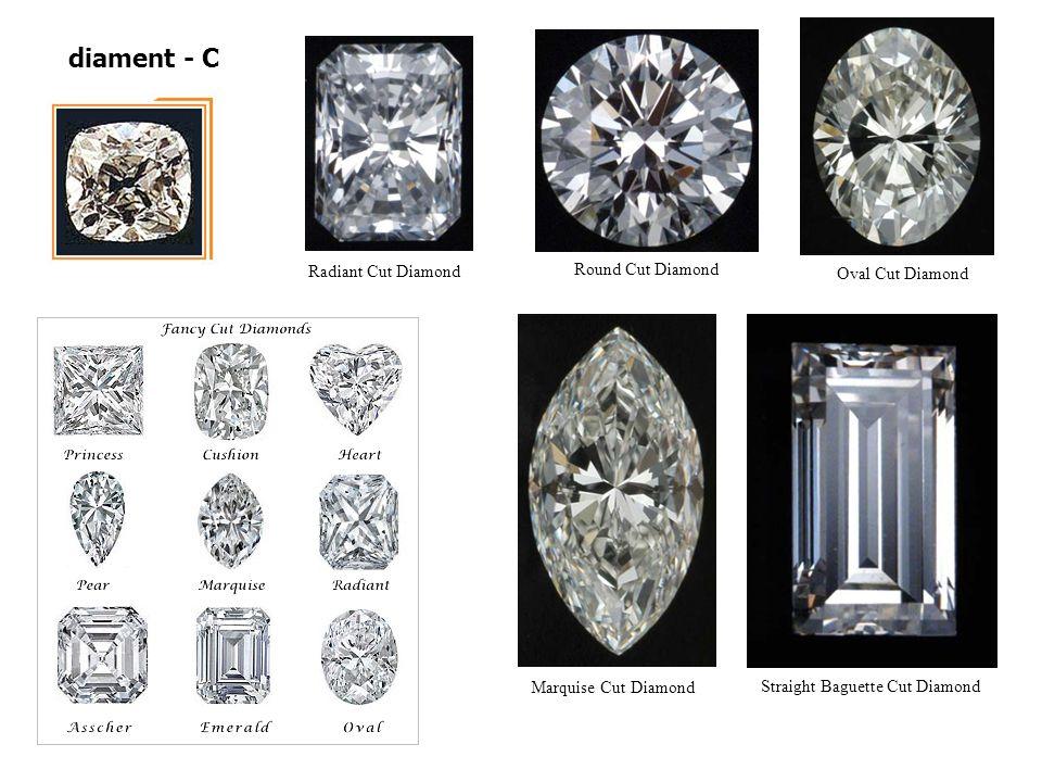 diament - C Radiant Cut Diamond Round Cut Diamond Oval Cut Diamond