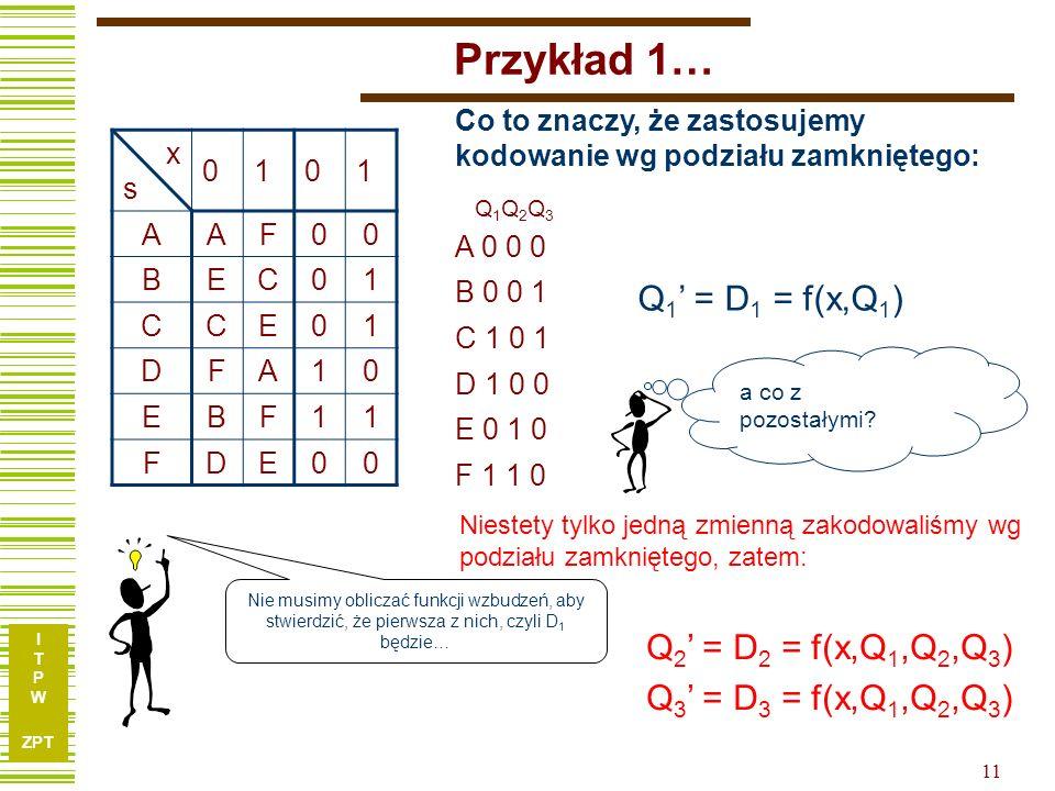 Przykład 1… Q1' = D1 = f(x,Q1) Q2' = D2 = f(x,Q1,Q2,Q3)