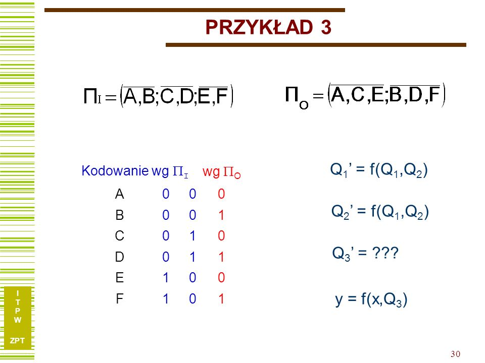 PRZYKŁAD 3 Q1' = f(Q1,Q2) Q2' = f(Q1,Q2) Q3' = y = f(x,Q3)