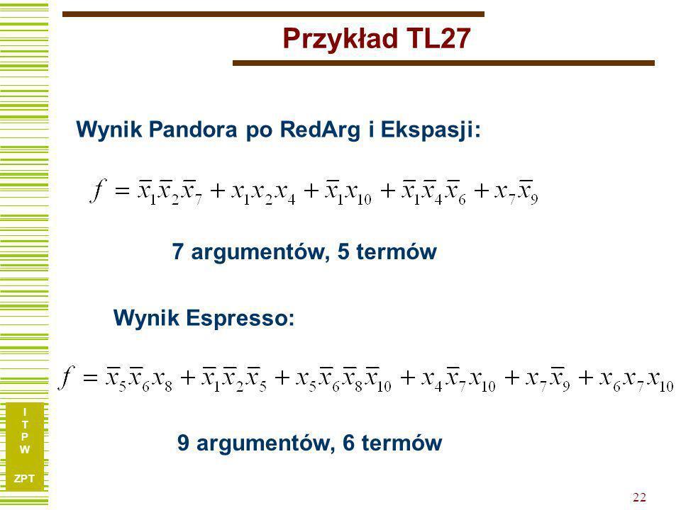 Przykład TL27 Wynik Pandora po RedArg i Ekspasji: