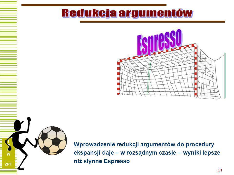 Redukcja argumentów Espresso