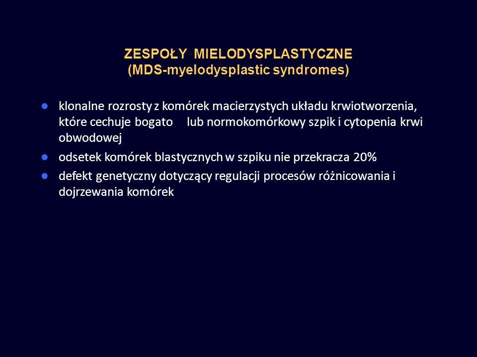 ZESPOŁY MIELODYSPLASTYCZNE (MDS-myelodysplastic syndromes)