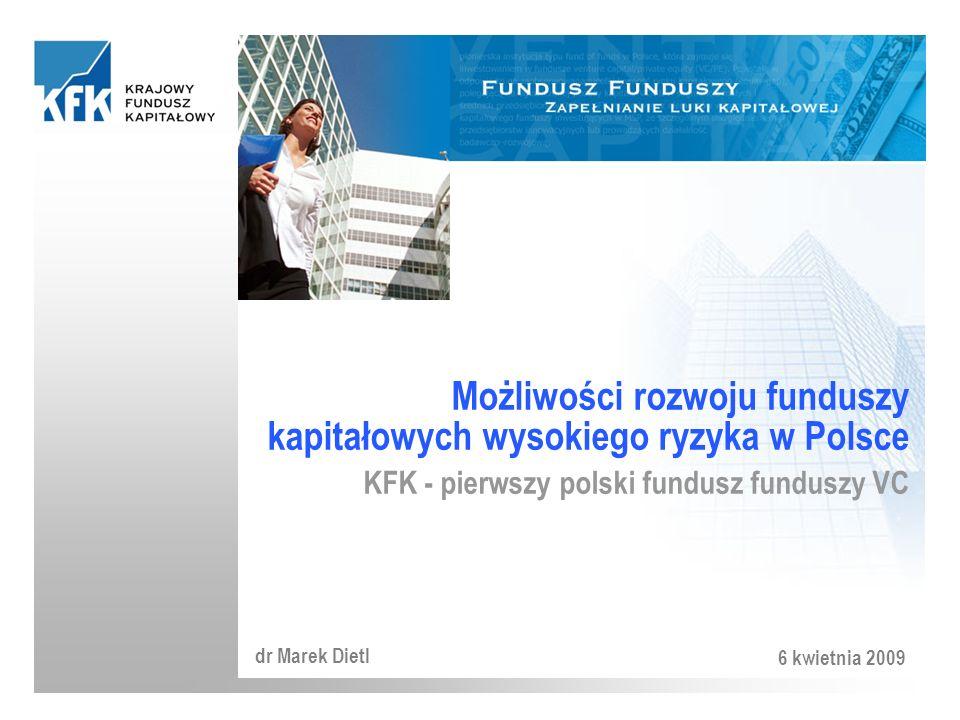 Możliwości rozwoju funduszy kapitałowych wysokiego ryzyka w Polsce