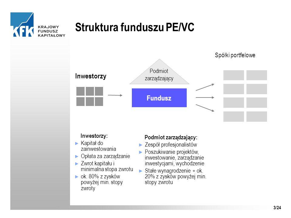 Struktura funduszu PE/VC