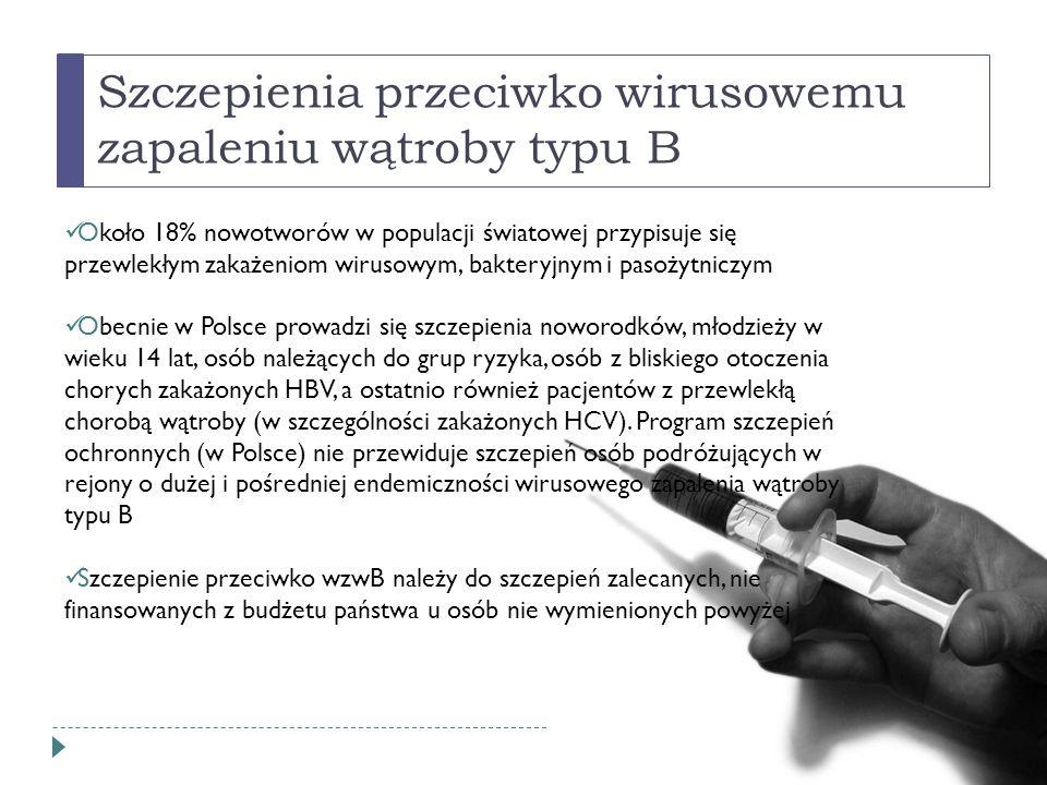 Szczepienia przeciwko wirusowemu zapaleniu wątroby typu B